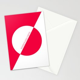 coral/white circle oblique Stationery Cards