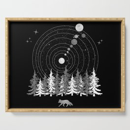 Alone Time - Solar System Nature Fox Serving Tray