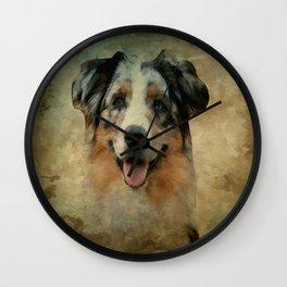 Australian Shepard - Aussie Wall Clock