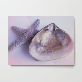 Seashell in Violet Metal Print