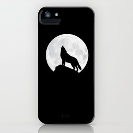 Howling Wolf - Moon iPhone Case