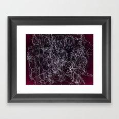 scribblesheet one red Framed Art Print