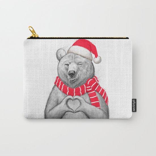 christmas bear #2 Carry-All Pouch