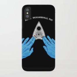 Me & Paranormal You - James Roper Design - Ouija (white lettering) iPhone Case