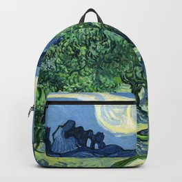 Olive Trees Painting by Vincent van Gogh Backpack