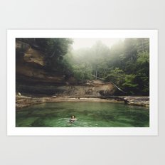 Emerald Pool Art Print