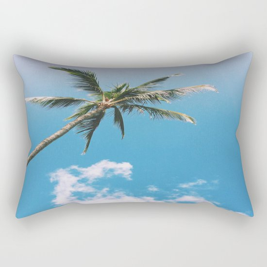 Clouds and Palms  Rectangular Pillow
