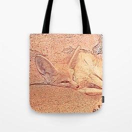 Sketchy Fennec Fox Tote Bag