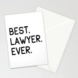 Best Lawyer Ever Advocate Gift Idea Stationery Cards