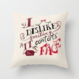 Lizzie Bennet Diaries-I Dislike Smiling Throw Pillow