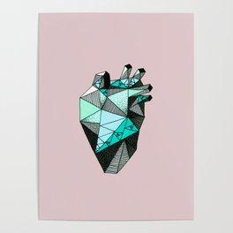 Single Minty Heart Poster