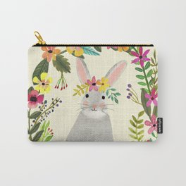 Floral Bunny Carry-All Pouch