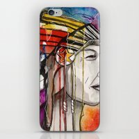 native american iPhone & iPod Skins featuring Native American by Hannah Brownfield Camacho