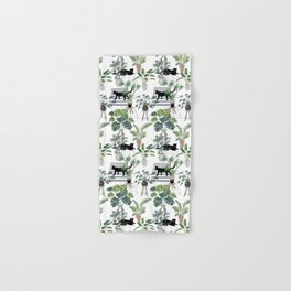cats in the interior pattern Hand & Bath Towel
