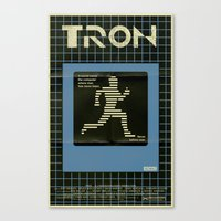 tron Canvas Prints featuring Tron by Mark Welser