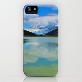 Sunwapta Lake at the Columbia Icefields in Jasper National Park, Canada iPhone Case