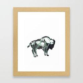 Bison Animus Framed Art Print