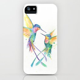Hopeful Hummingbirds iPhone Case