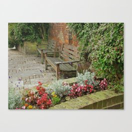 Secluded English Garden Canvas Print