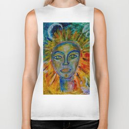 Daughter of the Sun and Moon Biker Tank