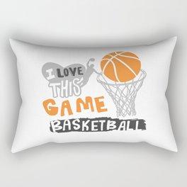 I love this game. Basketball Rectangular Pillow
