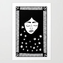Blomster i håret Art Print