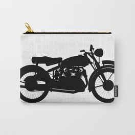 Motor Cycle Silhouette Carry-All Pouch