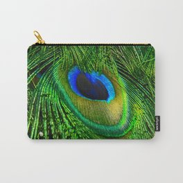 Peacock Glitter Carry-All Pouch
