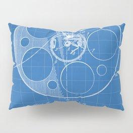Film Reel Patent - Classic Cinema Art - Blueprint Pillow Sham