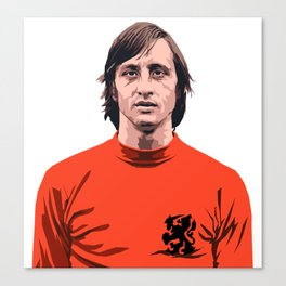 Cruyff - Holland player Canvas Print