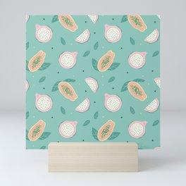 Dragon fruit pattern Mini Art Print
