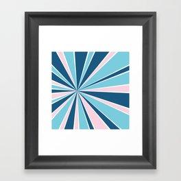 Starburst Pink and Blue Framed Art Print