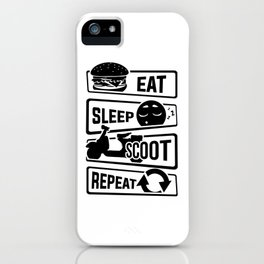Eat Sleep Scoot Repeat - Scooter Cruise Italy iPhone Case