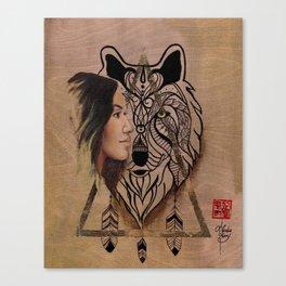 Wolf Twins Canvas Print