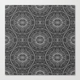 Tangled Mandala Pattern Canvas Print