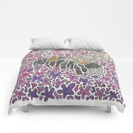 Vanishing Bee by Black Dwarf Designs Comforters