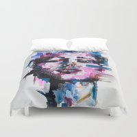 pixel Duvet Covers featuring PIXEL by Alexis Call