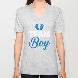 Team baby boy Unisex V-Neck