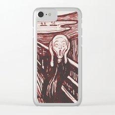 The Scream's Haze (red) Clear iPhone Case