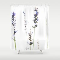 lavender Shower Curtains featuring Lavender by Renee Ansell
