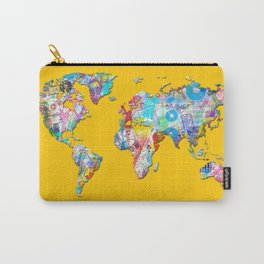 world map music art 1 Carry-All Pouch