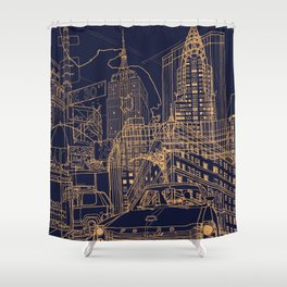 New York! Night Shower Curtain