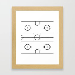Ice Hockey Rink Framed Art Print