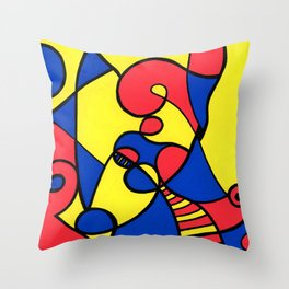 Print #12 Throw Pillow
