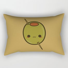 Cute skewered olive Rectangular Pillow