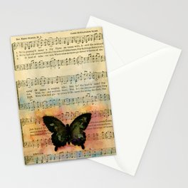 Butterfly Collage 7G by Kathy Morton Stanion Stationery Cards