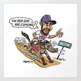 #Boston #Baseball #Pitcher #24 David Price Art Print