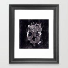 Metal Skull Framed Art Print