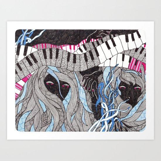 Music is not dead Art Print