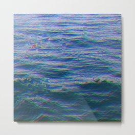 Oceanic Glitches - Dark Horizon Metal Print